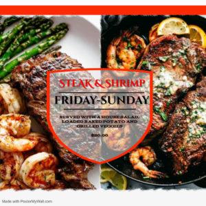 Friday- Sunday Specials