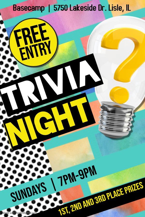 Trivia Every Sunday Night- Free to Play